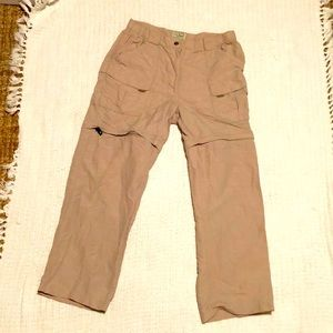 LL Bean tan cargo utility sport pant transitions S